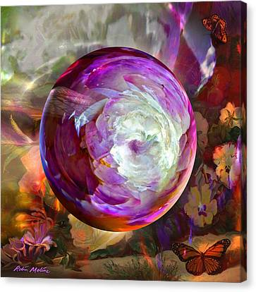 Orb Canvas Print - Butterfly Garden Globe by Robin Moline