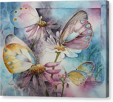 Butterfly Garden Canvas Print by Patsy Sharpe