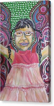 Canvas Print - Butterfly Girl by Cherie Sexsmith