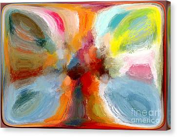 Butterfly In Abstract Canvas Print by Andrea Auletta