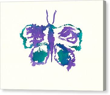 Canvas Print featuring the painting Butterfly Inkblot by Frank Bright