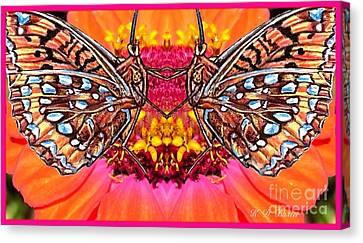 Butterfly Jig Canvas Print by Kimberlee Baxter