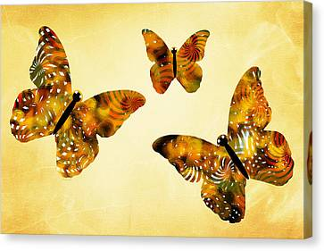 Butterfly Kisses Canvas Print by Christina Rollo