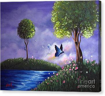Butterfly Lake By Shawna Erback Canvas Print by Shawna Erback
