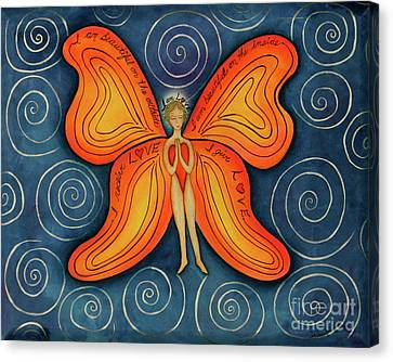 Butterfly Mantra Canvas Print
