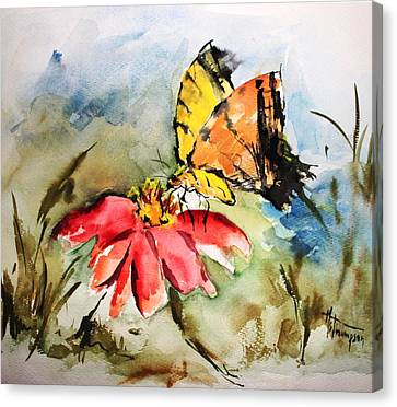 Butterfly   Canvas Print by Mary Spyridon Thompson
