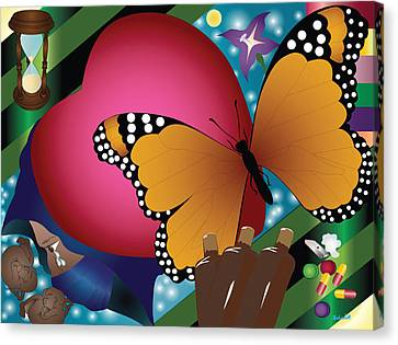 Butterfly Monk Canvas Print