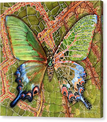Butterfly Mosaic 03 Elena Yakubovich Canvas Print