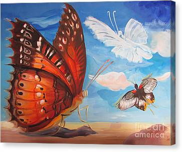 Butterfly Paysage 5 Canvas Print