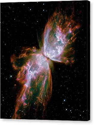 Butterfly Planetary Nebula Canvas Print by Nasa/esa/stsci/hubble Sm4 Ero Team