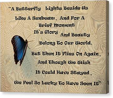 Butterfly Poem Canvas Print by Aimee L Maher Photography and Art Visit ALMGallerydotcom