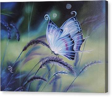 Canvas Print featuring the painting Butterfly Series #3 by Dianna Lewis