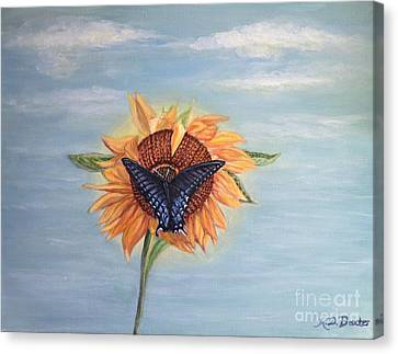 Butterfly Sunday Full Length Version Canvas Print by Kimberlee Baxter