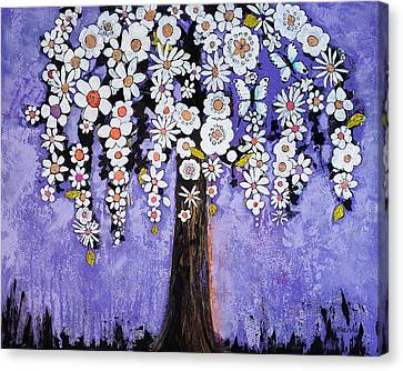 Butterfly Tree Canvas Print by Blenda Studio