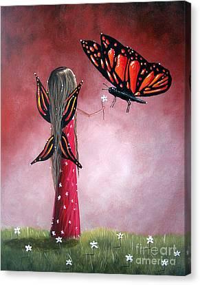Butterfly Whisperer By Shawna Erback Canvas Print by Shawna Erback