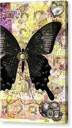 Butterfly Wish Canvas Print by Gillian Singleton