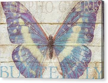 Butterfly Wood Series Canvas Print by Cora Niele