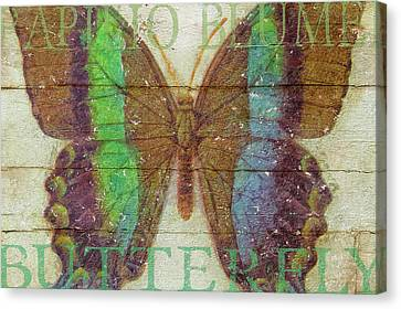 Butterfly Wood Series IIi Canvas Print by Cora Niele
