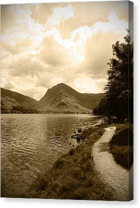 Canvas Print - Buttermere Bright Sky by Kathy Spall