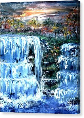 Buttermilk Falls Canvas Print by Denise Tomasura