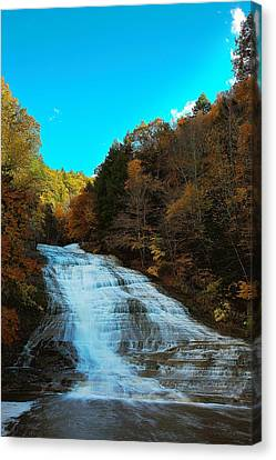 Canvas Print featuring the photograph Buttermilk Falls Ithaca New York by Paul Ge