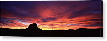 Buttes At Sunset, Chaco Culture Canvas Print by Panoramic Images