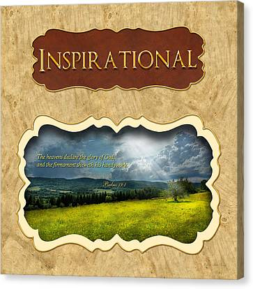 Parable Canvas Print - Button - Inspirational by Mike Savad