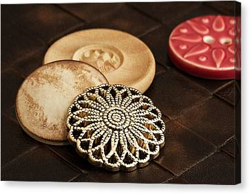 Button Still Life Canvas Print by Tom Mc Nemar