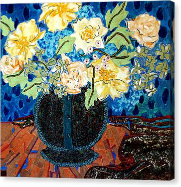 Button Up Vase Canvas Print by Diane Fine
