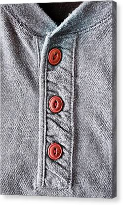 Apparel Canvas Print - Buttons by Tom Gowanlock