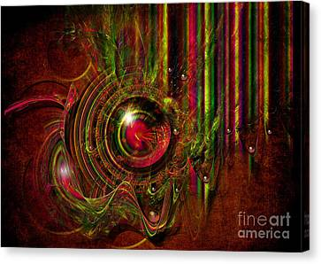 Canvas Print featuring the digital art Shooting Gallery by Alexa Szlavics