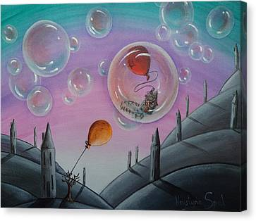 Buubble Trouble Canvas Print by Krystyna Spink