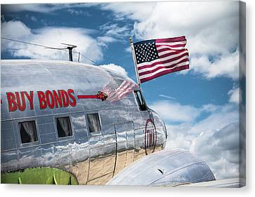 Canvas Print featuring the photograph Buy Bonds by Steven Bateson