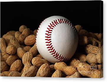 Buy Me Some Peanuts - Baseball - Nuts - Snack - Sport Canvas Print by Andee Design