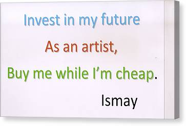 Canvas Print featuring the photograph Buy Me While I'm Cheap. by Rod Ismay