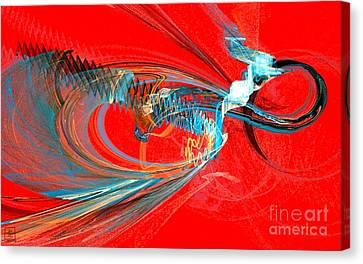 Buzzing Canvas Print by Jeanne Liander