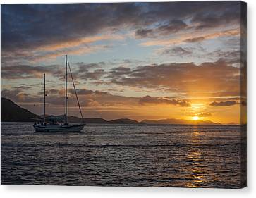 Man Ray Canvas Print - Bvi Sunset by Adam Romanowicz