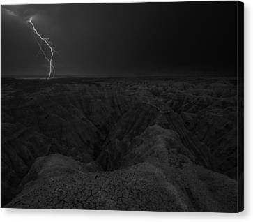 Bwcday5  Lightning Badlands  Canvas Print by Aaron J Groen