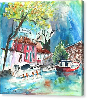 South Of France Canvas Print - By A French Canal 01 by Miki De Goodaboom