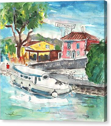 South Of France Canvas Print - By A French Canal 02 by Miki De Goodaboom