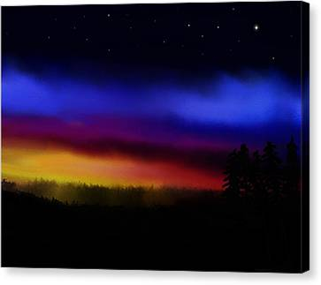 By Dawns Early Light Canvas Print by Steve Hermann