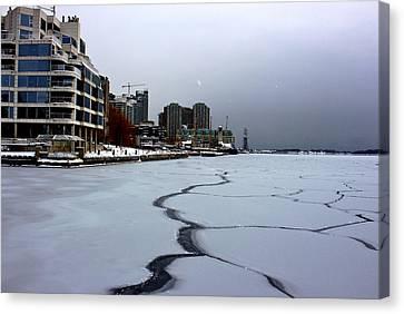By Frozen Harbour Canvas Print