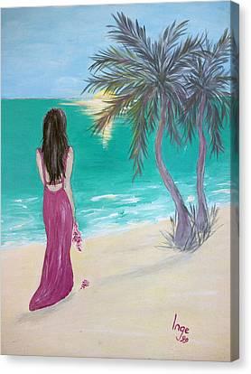 By Myself Canvas Print by Inge Lewis