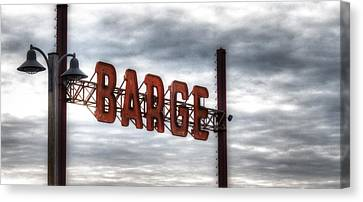 by The Barge Canvas Print