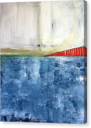 By The Bay- Abstract Art Canvas Print by Linda Woods