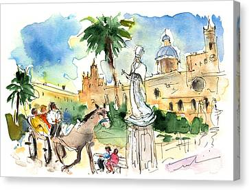 By The Cathedral In Palermo Canvas Print