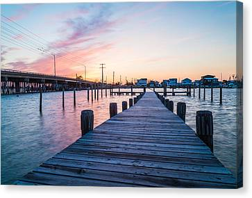 By The Dock Canvas Print by Kristopher Schoenleber