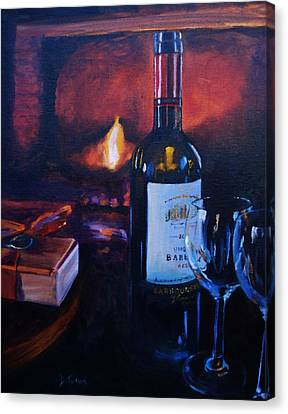 By The Fire Canvas Print
