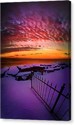 By The Light Of A New Day Canvas Print by Phil Koch