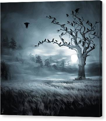 By The Moonlight Canvas Print by Lourry Legarde